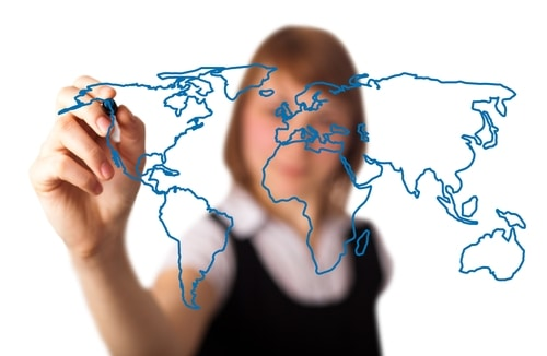 Microsoft Dynamics GP converts foreign currencies in a centralized database.